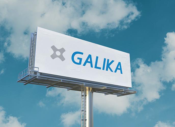 Logo Galika na billboardu
